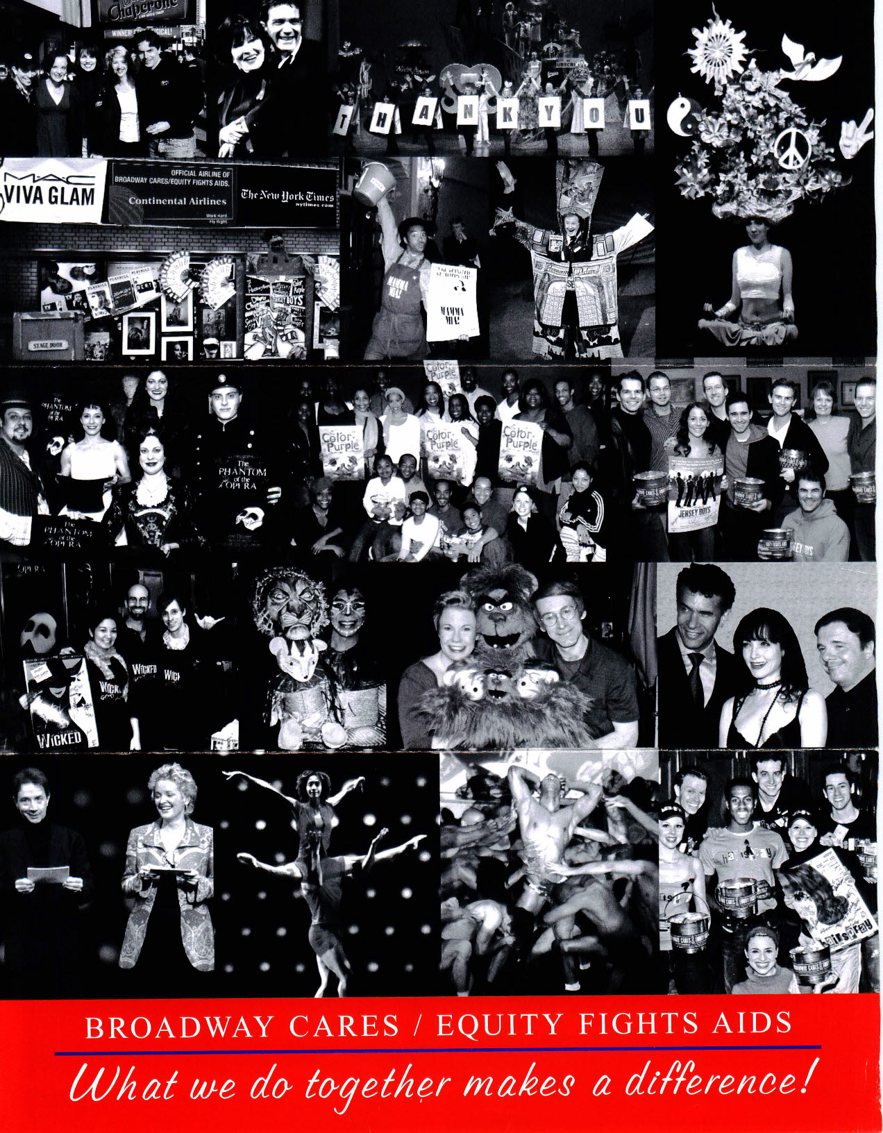 Broadway Cares Photo Collage