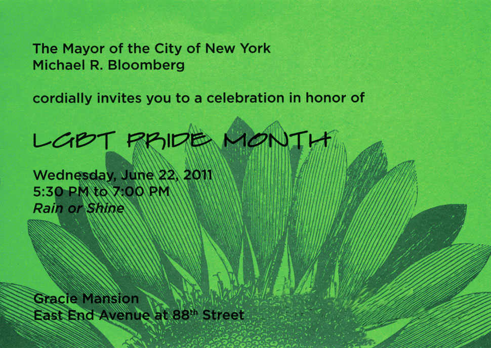 Michael Bloomberg Gay NYC 2011