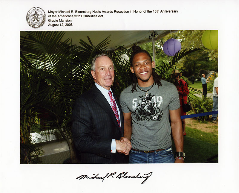 AnDre Christie with Mayor MRB 2008