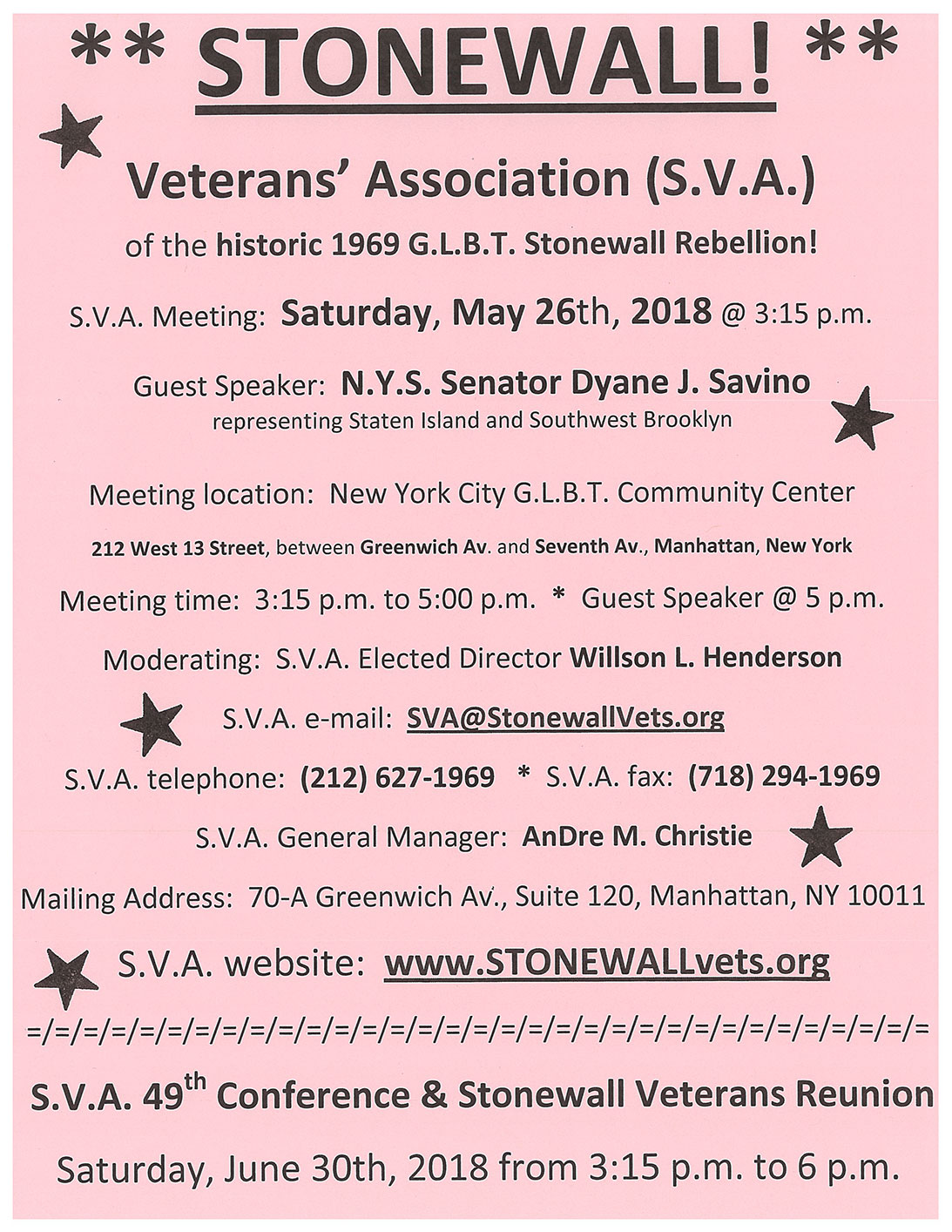 SVA Meeting May 2018