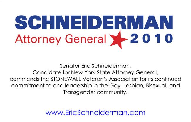 NYS State Sen. Eric Schneiderman