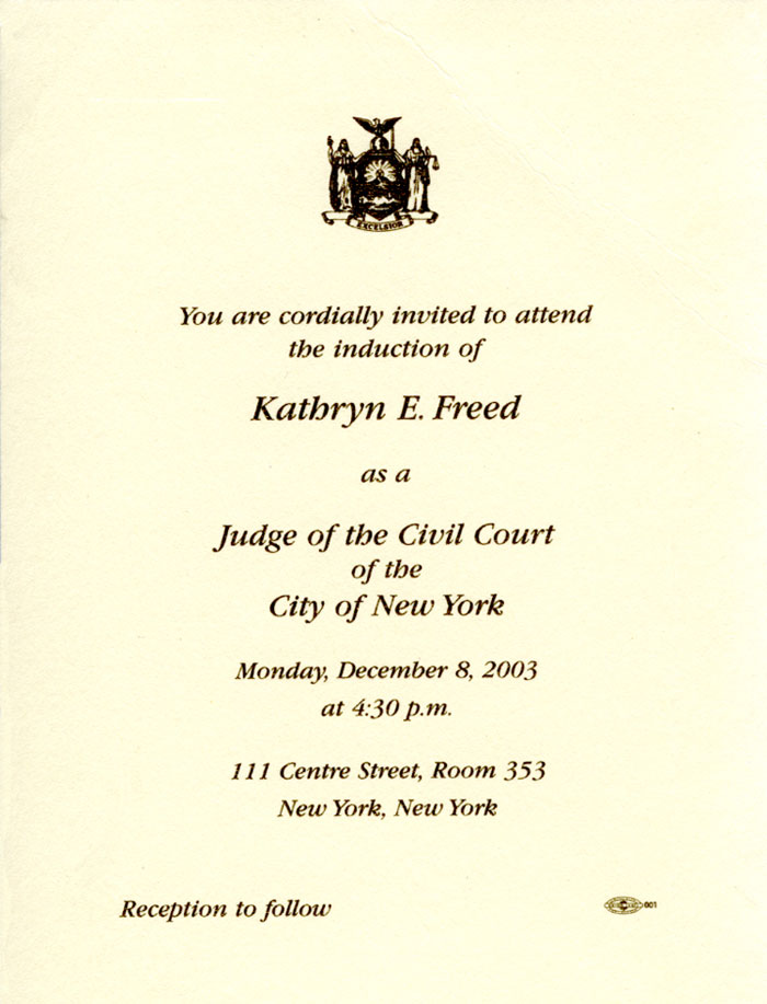 Judge Kathryn Freed