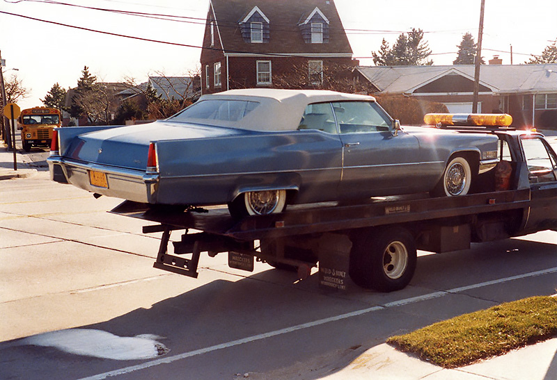 1969 Caddy on Flatbed rear