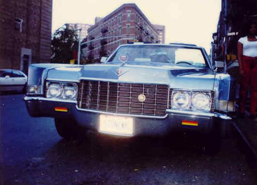 Upfront and up close: the unmistakeable front of the 1969 Cadillac