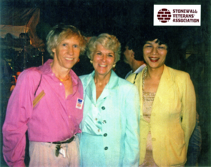 Williamson and Geraldine w/ Cindy Chan at GLBT Garden Party