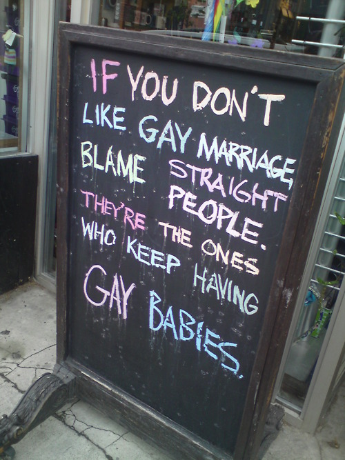 Straights Deliver Gay Babies