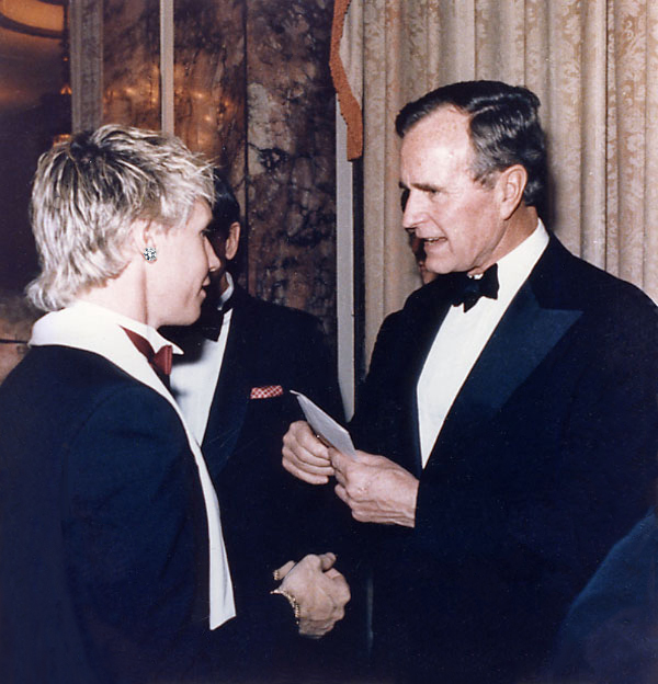 President Bush Sr. with Williamson Henderson