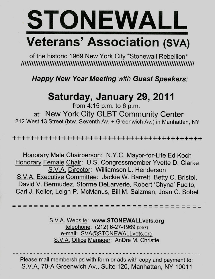 SVA Meeting January 2011