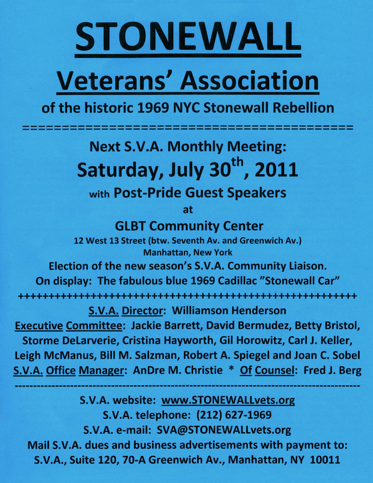 SVA Meeting July 2011