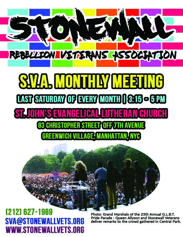 STONEWALL Veterans' Association * Current & Upcoming Events