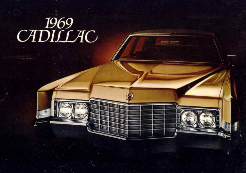 General Motors Catalog: 1969 Cadillacfront view with massive grille