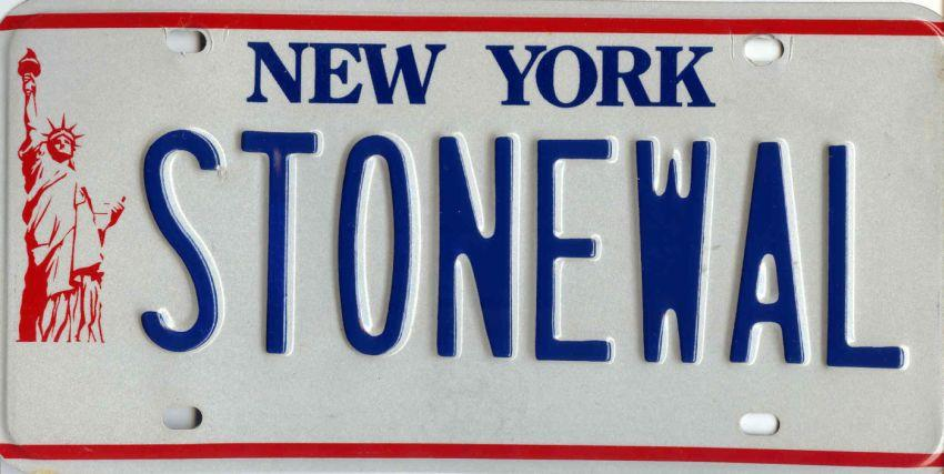 New York State Statue of Liberty Custom License Plate: STONEWAL